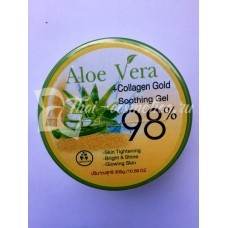 Гель с алое вера с коллагеном, Aloe Vera Soothing Gel collagen gold 300g